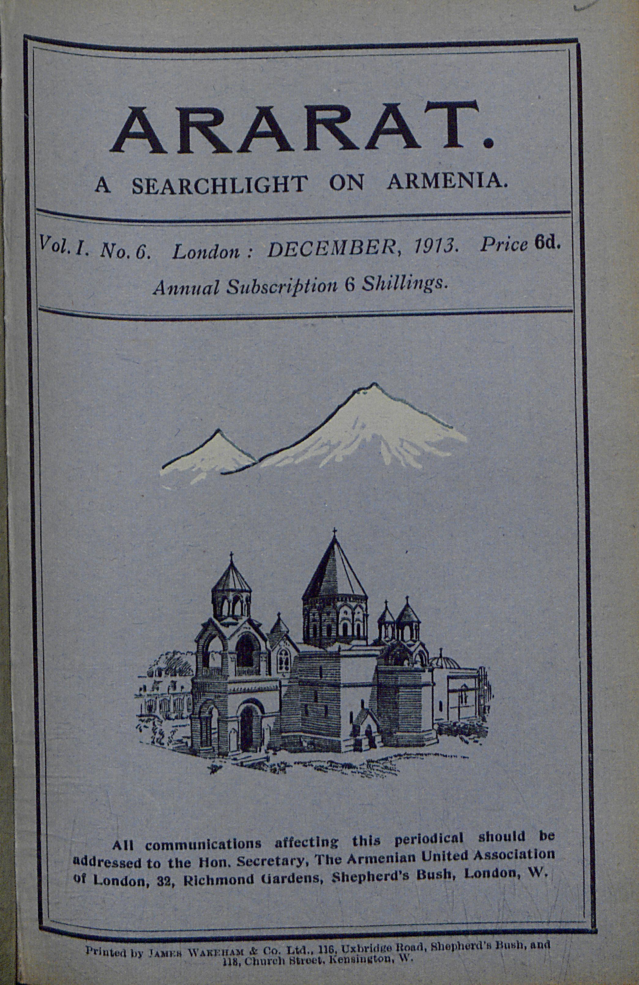 Armenian Community and WW1 | The Centre for Armenian